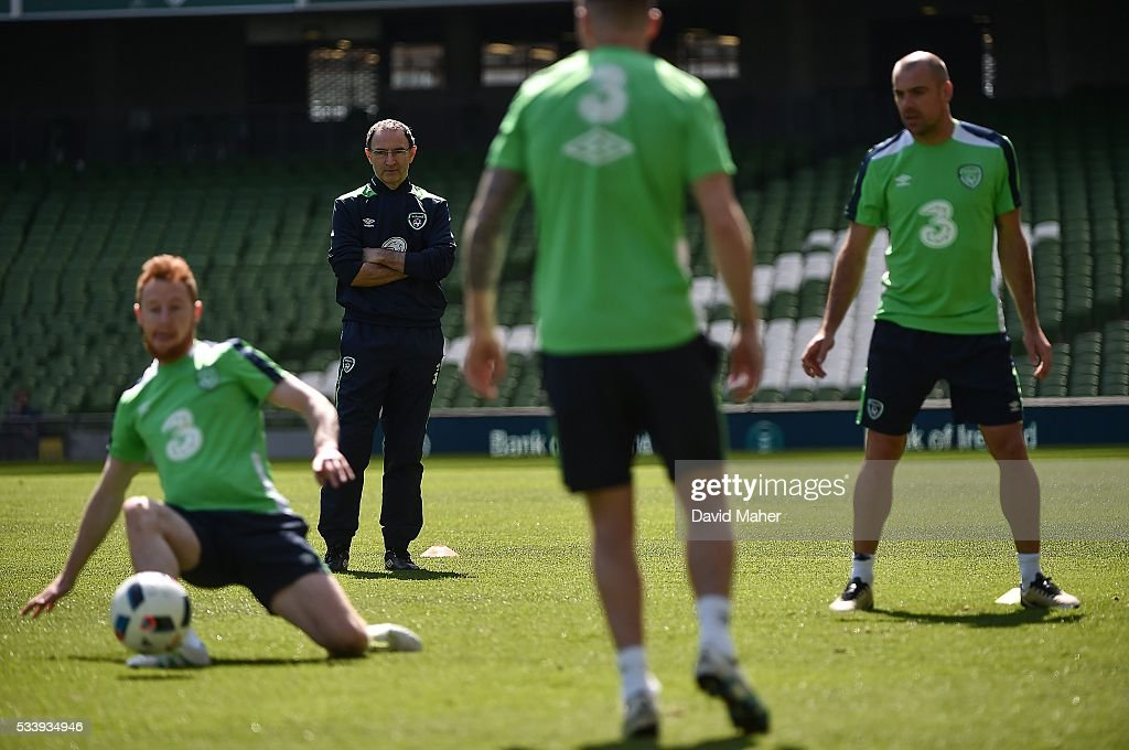 Dublin , Ireland - 24 May 2016; Republic of Ireland manager <a gi-track='captionPersonalityLinkClicked' href=/galleries/search?phrase=Martin+O%27Neill&family=editorial&specificpeople=201190 ng-click='$event.stopPropagation()'>Martin O'Neill</a> watches on during squad training in the Aviva Stadium, Lansdowne Road, Dublin.