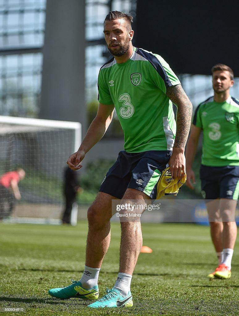 Dublin , Ireland - 24 May 2016; Shane Duffy of the Republic of Ireland during squad training in the Aviva Stadium, Lansdowne Road, Dublin.