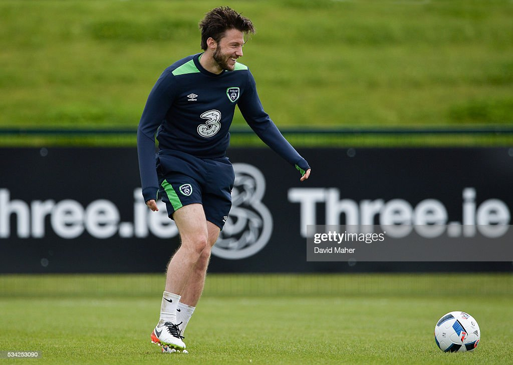 Dublin , Ireland - 25 May 2016; <a gi-track='captionPersonalityLinkClicked' href=/galleries/search?phrase=Harry+Arter&family=editorial&specificpeople=3430393 ng-click='$event.stopPropagation()'>Harry Arter</a> of Republic of Ireland during squad training in the National Sports Campus, Abbotstown, Dublin.