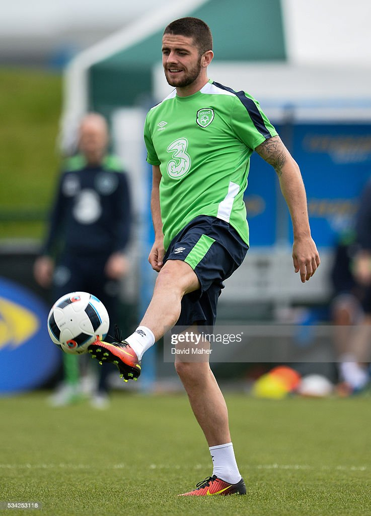 Dublin , Ireland - 25 May 2016; <a gi-track='captionPersonalityLinkClicked' href=/galleries/search?phrase=Robbie+Brady&family=editorial&specificpeople=9028769 ng-click='$event.stopPropagation()'>Robbie Brady</a> of Republic of Ireland during squad training in the National Sports Campus, Abbotstown, Dublin.