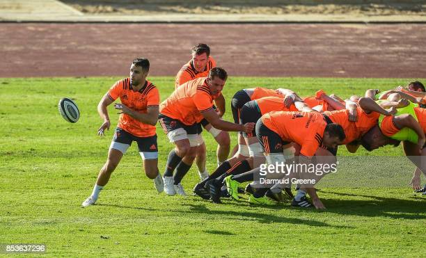 Dublin Ireland 25 September 2017 Munster players Conor Murray Peter O'Mahony CJ Stander and Tommy O'Donnell in action during Munster Rugby Squad...