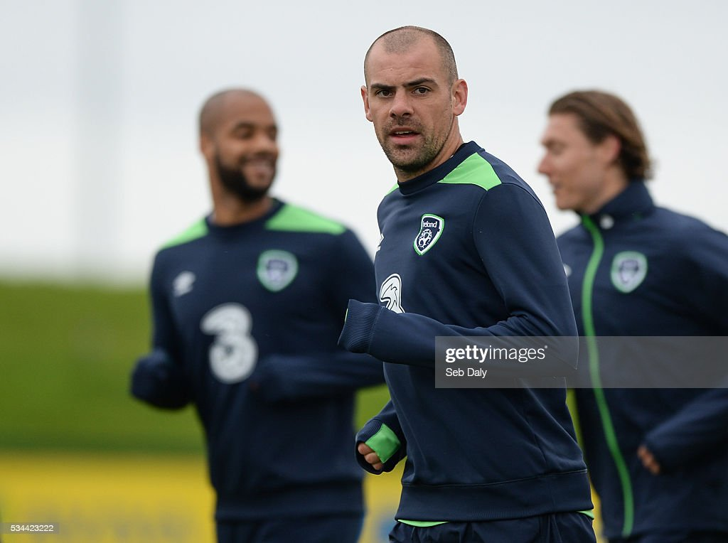 Dublin , Ireland - 26 May 2016; Darren Gibson of Republic of Ireland during squad training in the National Sports Campus, Abbotstown, Dublin.