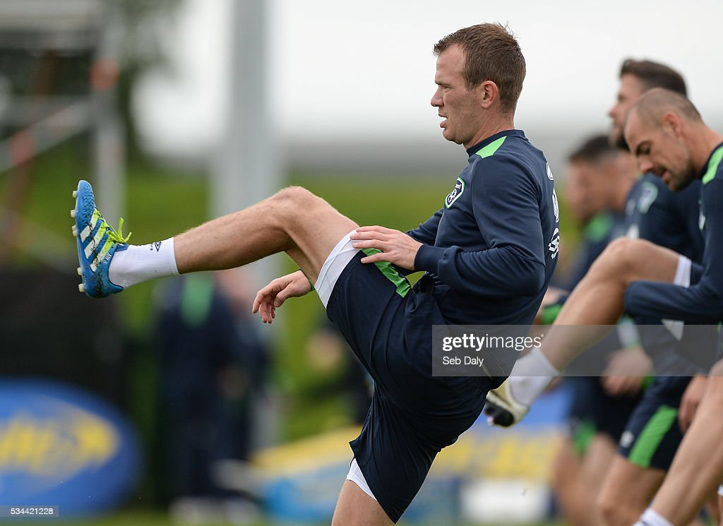Dublin , Ireland - 26 May 2016; Glenn Whelan of Republic of Ireland during squad training in the National Sports Campus, Abbotstown, Dublin.