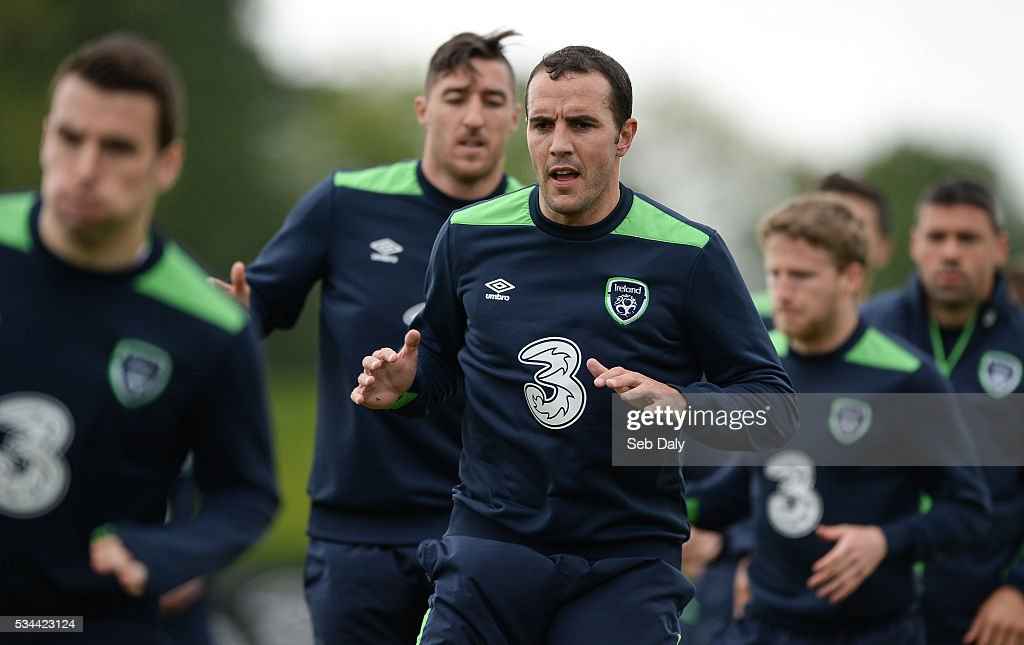 Dublin , Ireland - 26 May 2016; John O'Shea of Republic of Ireland during squad training in the National Sports Campus, Abbotstown, Dublin.