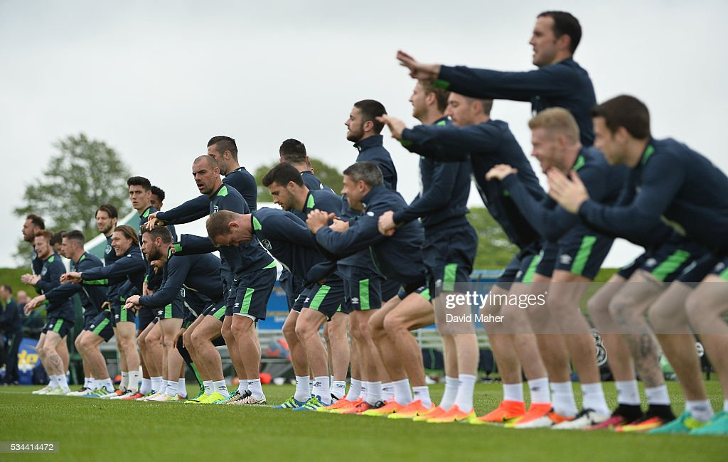 Dublin , Ireland - 26 May 2016; Republic of Ireland players during squad training in the National Sports Campus, Abbotstown, Dublin.