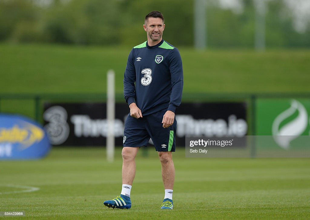 Dublin , Ireland - 26 May 2016; <a gi-track='captionPersonalityLinkClicked' href=/galleries/search?phrase=Robbie+Keane&family=editorial&specificpeople=171824 ng-click='$event.stopPropagation()'>Robbie Keane</a> of Republic of Ireland during squad training in the National Sports Campus, Abbotstown, Dublin.