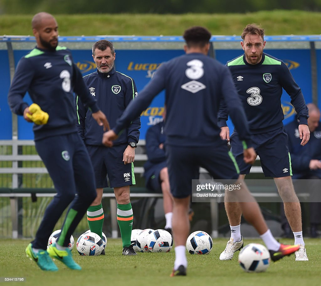 Dublin , Ireland - 26 May 2016; <a gi-track='captionPersonalityLinkClicked' href=/galleries/search?phrase=Roy+Keane&family=editorial&specificpeople=171835 ng-click='$event.stopPropagation()'>Roy Keane</a>, assistant manager of Republic of Ireland during squad training in the National Sports Campus, Abbotstown, Dublin.