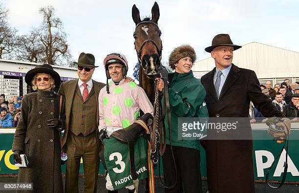 Dublin Ireland 27 December 2016 Winning connections from left Maureen Mullins owner Rich Ricci jockey Ruby Walsh and trainer Willie Mullins right...