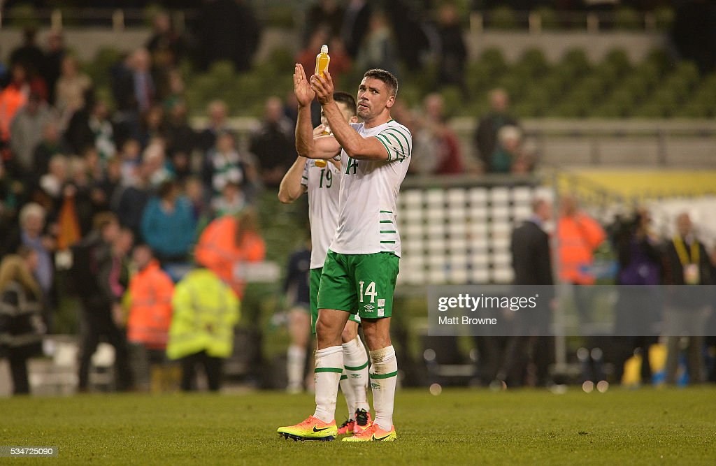 Dublin , Ireland - 27 May 2016; <a gi-track='captionPersonalityLinkClicked' href=/galleries/search?phrase=Jonathan+Walters&family=editorial&specificpeople=3389578 ng-click='$event.stopPropagation()'>Jonathan Walters</a> of Republic of Ireland after the 3 International Friendly between Republic of Ireland and Netherlands in the Aviva Stadium, Lansdowne Road, Dublin.