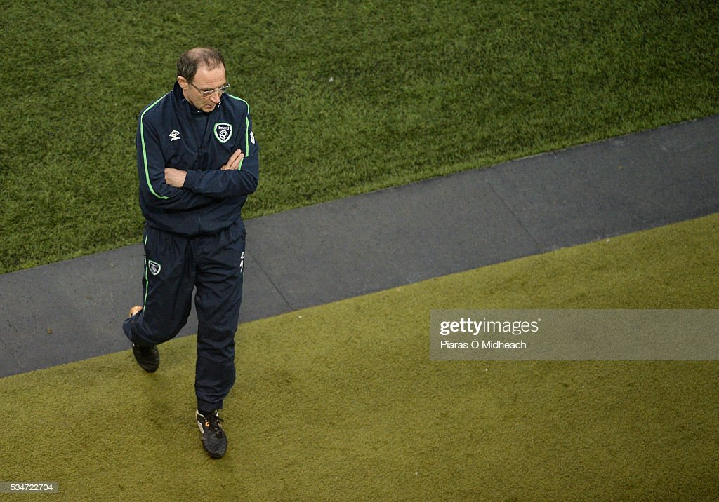 Dublin , Ireland - 27 May 2016; Republic of Ireland manager <a gi-track='captionPersonalityLinkClicked' href=/galleries/search?phrase=Martin+O%27Neill&family=editorial&specificpeople=201190 ng-click='$event.stopPropagation()'>Martin O'Neill</a> during the 3 International Friendly between Republic of Ireland and Netherlands in the Aviva Stadium, Lansdowne Road, Dublin.
