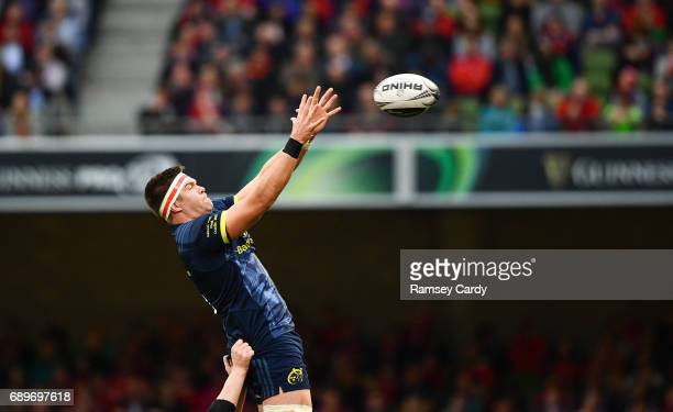 Dublin Ireland 27 May 2017 Billy Holland of Munster during the Guinness PRO12 Final between Munster and Scarlets at the Aviva Stadium in Dublin
