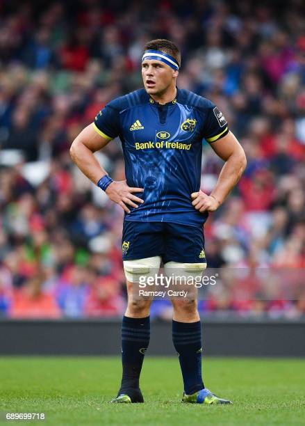 Dublin Ireland 27 May 2017 CJ Stander of Munster during the Guinness PRO12 Final between Munster and Scarlets at the Aviva Stadium in Dublin