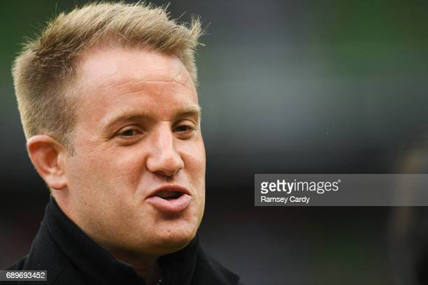 Dublin Ireland 27 May 2017 Former Leinster player Luke Fitzgerald during the Guinness PRO12 Final between Munster and Scarlets at the Aviva Stadium...