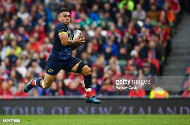 Dublin Ireland 27 May 2017 Francis Saili of Munster during the Guinness PRO12 Final between Munster and Scarlets at the Aviva Stadium in Dublin