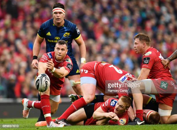 Dublin Ireland 27 May 2017 Gareth Davies of Scarlets during the Guinness PRO12 Final between Munster and Scarlets at the Aviva Stadium in Dublin