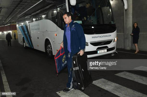 Dublin Ireland 27 May 2017 Munster director of rugby Rassie Erasmus arrives ahead of the Guinness PRO12 Final between Munster and Scarlets at the...