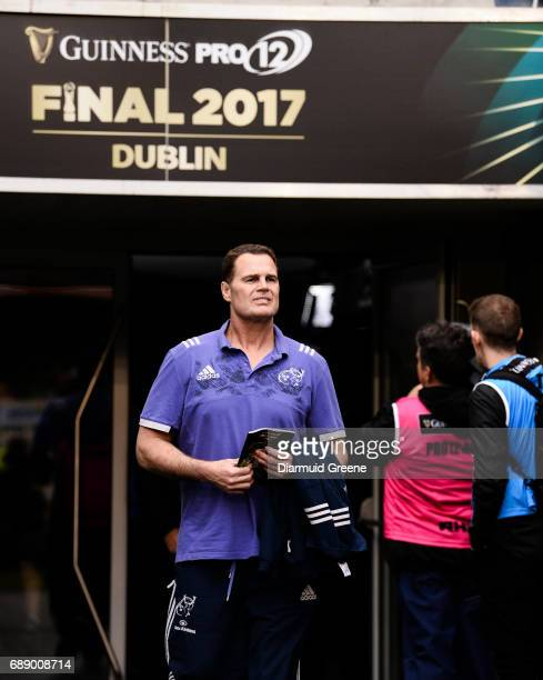 Dublin Ireland 27 May 2017 Munster director of rugby Rassie Erasmus ahead of the Guinness PRO12 Final between Munster and Scarlets at the Aviva...