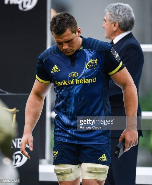 Dublin Ireland 27 May 2017 Munster's CJ Stander following their defeat in the Guinness PRO12 Final between Munster and Scarlets at the Aviva Stadium...