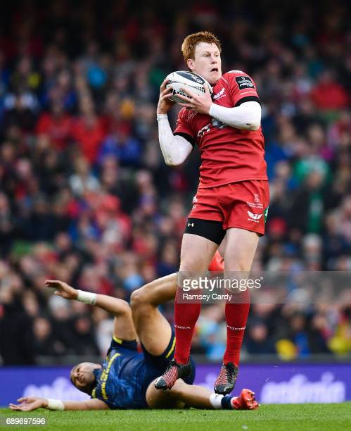 Dublin Ireland 27 May 2017 Rhys Patchell of Scarlets during the Guinness PRO12 Final between Munster and Scarlets at the Aviva Stadium in Dublin