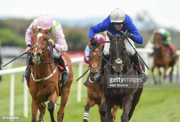 Dublin Ireland 28 April 2017 Woodland Opera right with Robbie Power up alongside Arbre De Vie with Ruby Walsh up who finished second on their way to...