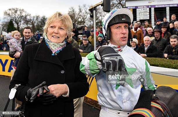 Dublin Ireland 29 December 2016 Jockey Robbie Power with trainer Jessica Harrington after winning The Neville Hotels Novice Steeplechase on Our Duke...