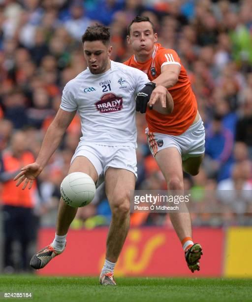 Dublin Ireland 29 July 2017 Ben McCormack of Kildare in action against Aaron McKay of Armagh during the GAA Football AllIreland Senior Championship...