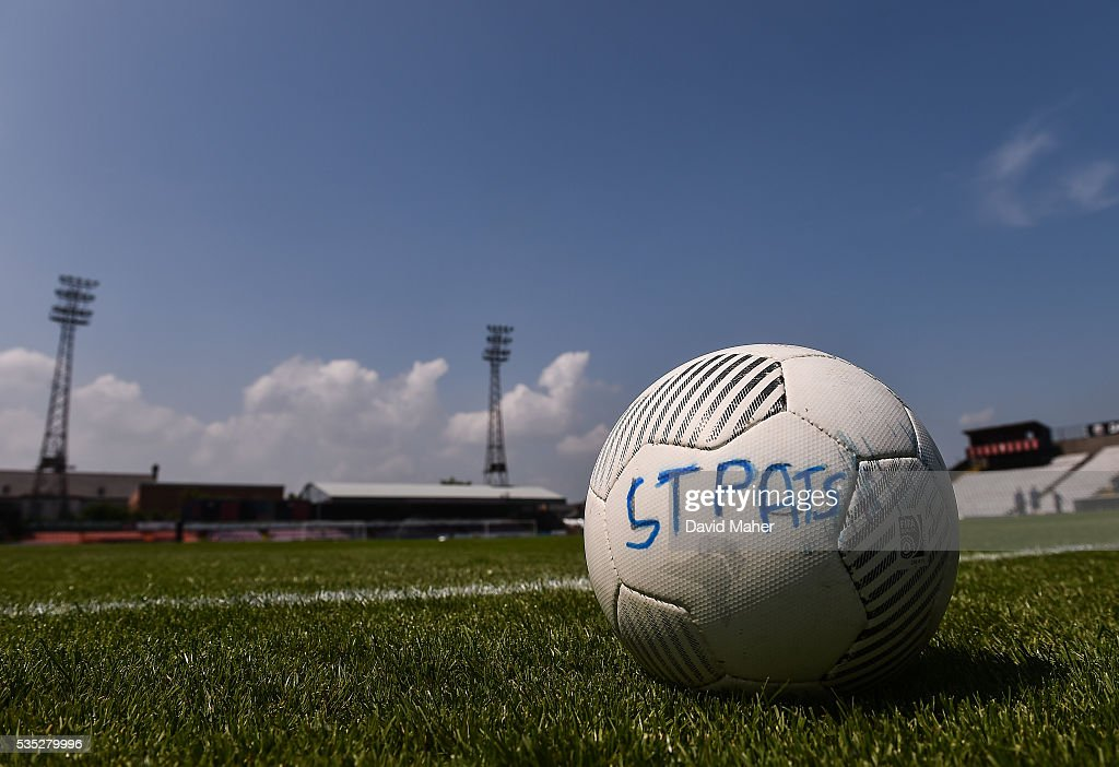 Dublin , Ireland - 29 May 2016; A general view of a St Patrick's Athletic training football before the start of the SSE Airtricity League Premier Division match between Bohemians and St Patrick's Athletic at Dalymount Park, Dublin.