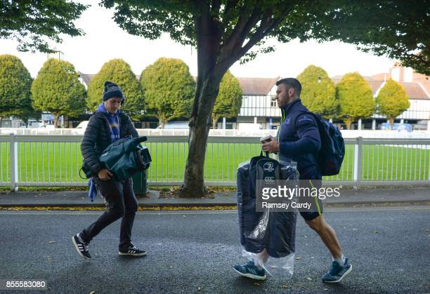 Dublin Ireland 29 September 2017 Leinster's Sean O'Brien arrives ahead of the Guinness PRO14 Round 5 match between Leinster and Edinburgh at the RDS...