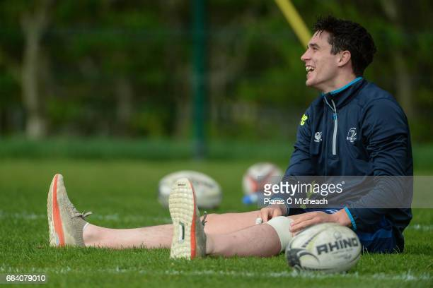Dublin Ireland 3 April 2017 Joey Carbery of Leinster during squad training at Rosemount in Belfield UCD Dublin