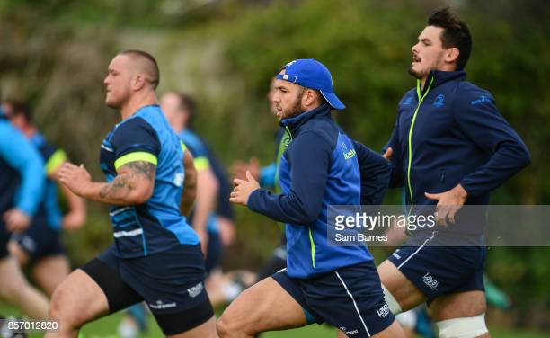 Dublin Ireland 3 October 2017 Jamison GibsonPark of Leinster during Leinster Squad Training at Leinster Rugby Headquarters in Dublin