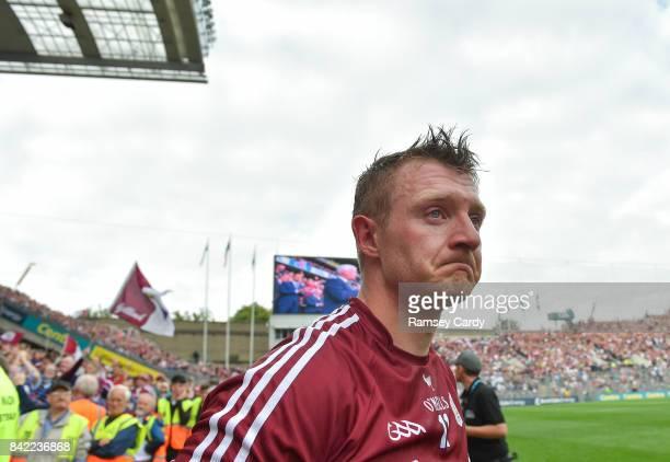 Dublin Ireland 3 September 2017 An emotional Joe Canning of Galway following the GAA Hurling AllIreland Senior Championship Final match between...