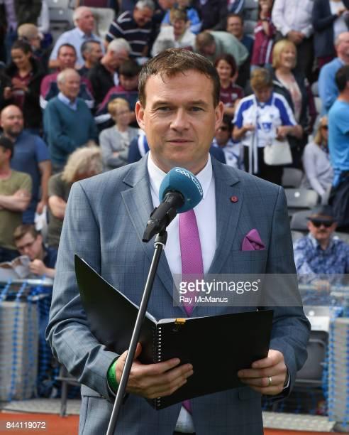 Dublin Ireland 3 September 2017 Author and broadcaster Damian Lawlor before the GAA Hurling AllIreland Senior Championship Final match between Galway...