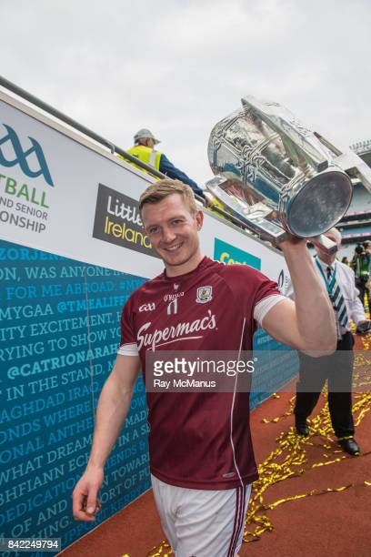 Dublin Ireland 3 September 2017 Galway's Joe Canning with the Liam MacCarthy Cup after the GAA Hurling AllIreland Senior Championship Final match...