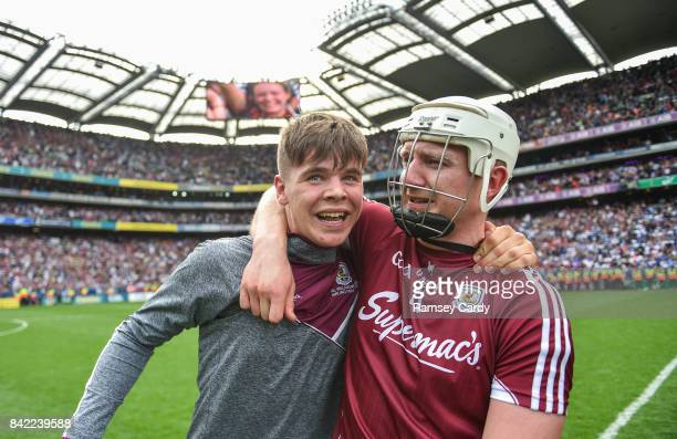 Dublin Ireland 3 September 2017 Joe Canning of Galway celebrates with his nephew Jack who played in the minor game following the GAA Hurling...