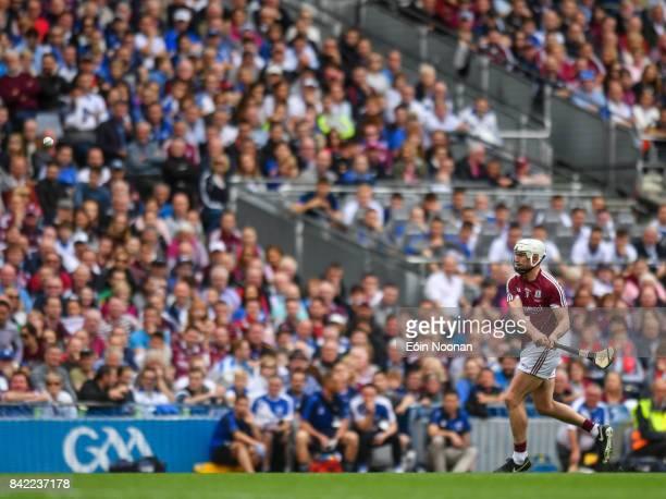 Dublin Ireland 3 September 2017 Joe Canning of Galway scores a free during the GAA Hurling AllIreland Senior Championship Final match between Galway...