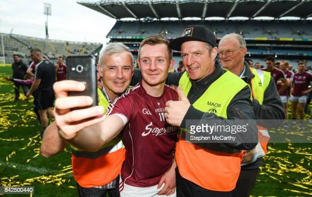 Dublin Ireland 3 September 2017 Joe Canning of Galway with Croke Park stewards following the GAA Hurling AllIreland Senior Championship Final match...