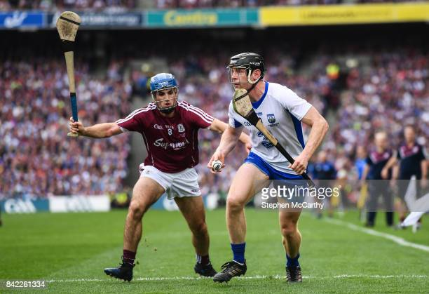 Dublin Ireland 3 September 2017 Kevin Moran of Waterford in action against Johnny Coen of Galway during the GAA Hurling AllIreland Senior...