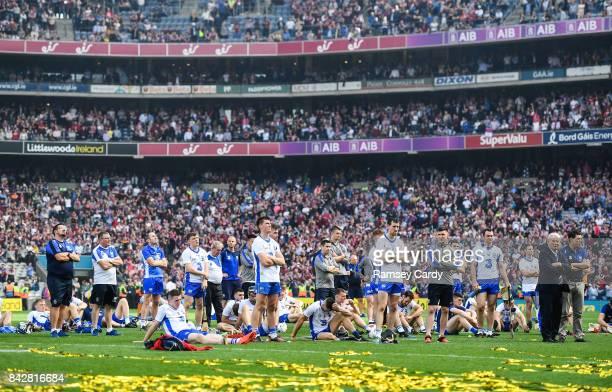 Dublin Ireland 3 September 2017 The Waterford team following the GAA Hurling AllIreland Senior Championship Final match between Galway and Waterford...
