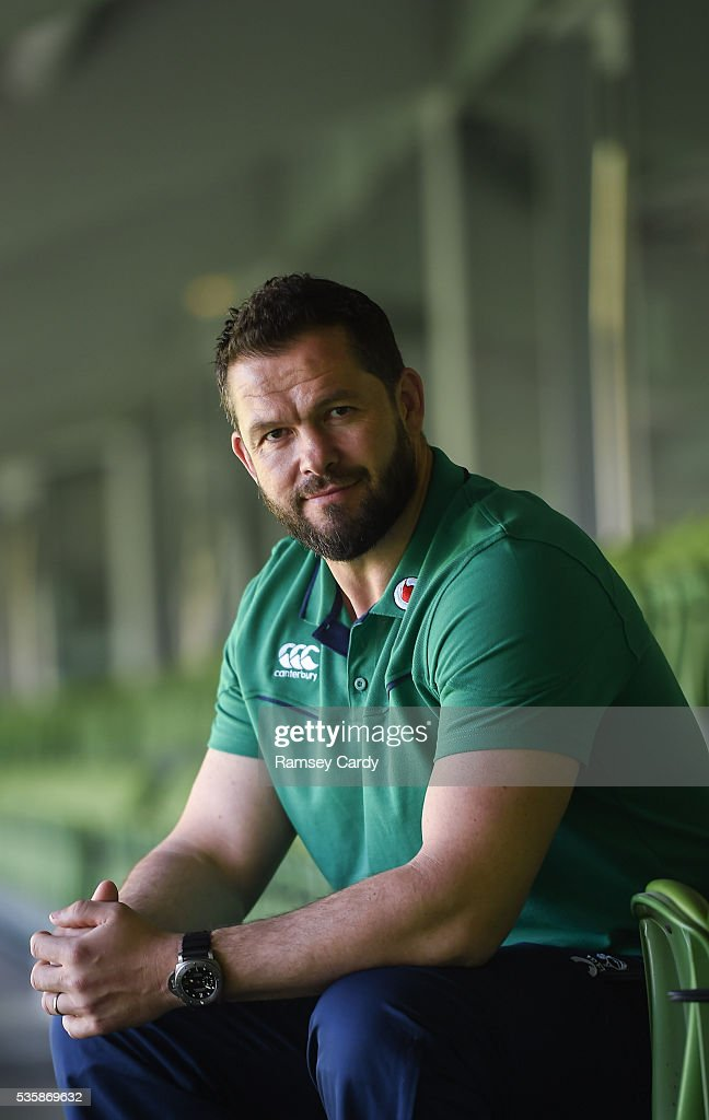 Dublin , Ireland - 30 May 2016; Ireland defence coach Andy Farrell poses for a portrait following a press conference in the Aviva Stadium, Lansdowne Road, Dubln.