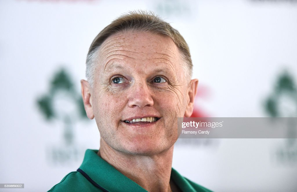 Dublin , Ireland - 30 May 2016; Ireland head coach <a gi-track='captionPersonalityLinkClicked' href=/galleries/search?phrase=Joe+Schmidt+-+Allenatore+di+rugby&family=editorial&specificpeople=10877847 ng-click='$event.stopPropagation()'>Joe Schmidt</a> during a press conference in the Aviva Stadium, Lansdowne Road, Dubln.