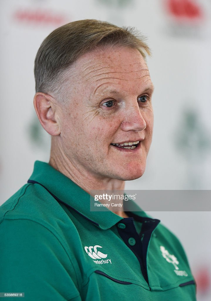 Dublin , Ireland - 30 May 2016; Ireland head coach <a gi-track='captionPersonalityLinkClicked' href=/galleries/search?phrase=Joe+Schmidt+-+Entra%C3%AEneur+de+rugby+%C3%A0+quinze&family=editorial&specificpeople=10877847 ng-click='$event.stopPropagation()'>Joe Schmidt</a> during a press conference in the Aviva Stadium, Lansdowne Road, Dubln.