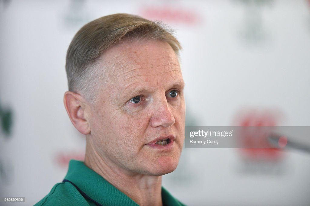 Dublin , Ireland - 30 May 2016; Ireland head coach <a gi-track='captionPersonalityLinkClicked' href=/galleries/search?phrase=Joe+Schmidt+-+Rugby+Union+Coach&family=editorial&specificpeople=10877847 ng-click='$event.stopPropagation()'>Joe Schmidt</a> during a press conference in the Aviva Stadium, Lansdowne Road, Dubln.