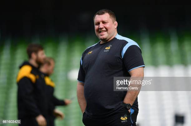 Dublin Ireland 31 March 2017 Wasps Director of Rugby Dai Young during the captain's run at the Aviva Stadium in Dublin