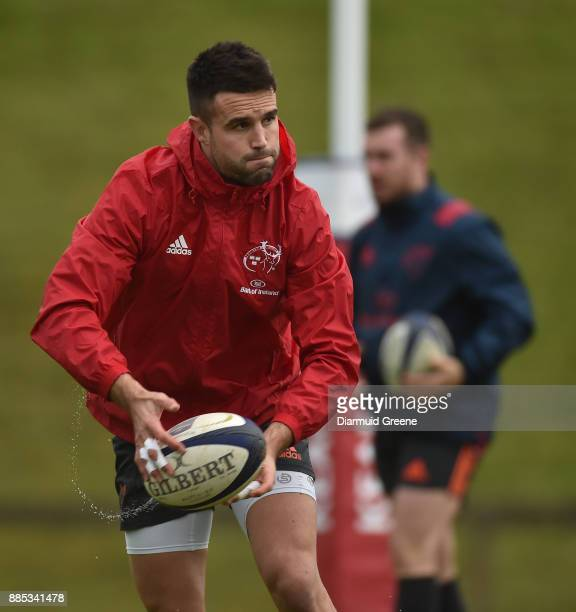 Dublin Ireland 4 December 2017 Conor Murray during Munster Rugby squad training at the University of Limerick in Limerick