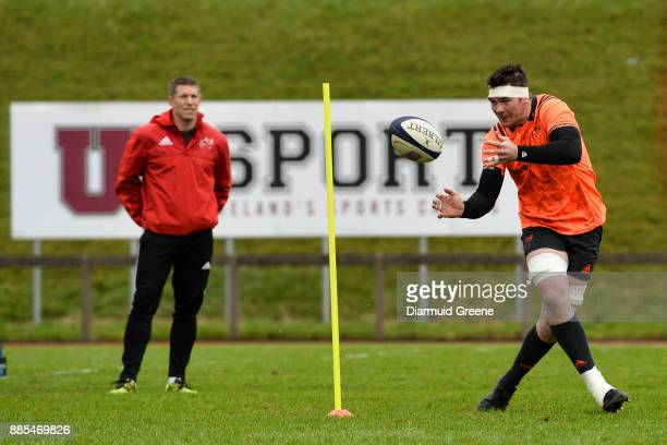 Dublin Ireland 4 December 2017 Peter O'Mahony during Munster Rugby squad training at the University of Limerick in Limerick