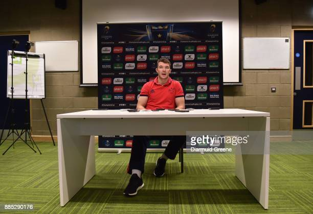 Dublin Ireland 4 December 2017 Peter O'Mahony of Munster during a Munster Rugby press conference at the University of Limerick in Limerick