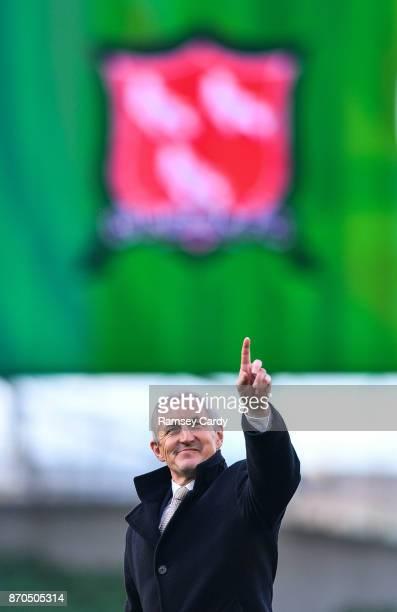 Dublin Ireland 5 November 2017 Cork City manager John Caulfield ahead of the Irish Daily Mail FAI Senior Cup Final match between Cork City and...