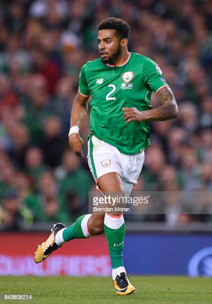 Dublin Ireland 5 September 2017 Cyrus Christie of Republic of Ireland during the FIFA World Cup Qualifier Group D match between Republic of Ireland...