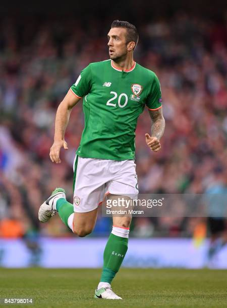 Dublin Ireland 5 September 2017 Shane Duffy of Republic of Ireland during the FIFA World Cup Qualifier Group D match between Republic of Ireland and...
