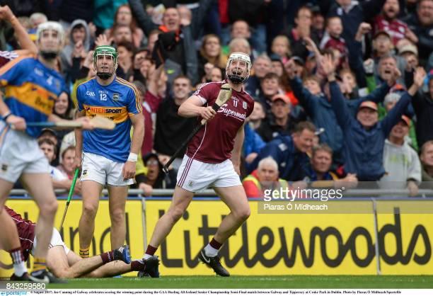 Dublin Ireland 6 August 2017 Joe Canning of Galway celebrates scoring the winning point during the GAA Hurling AllIreland Senior Championship...